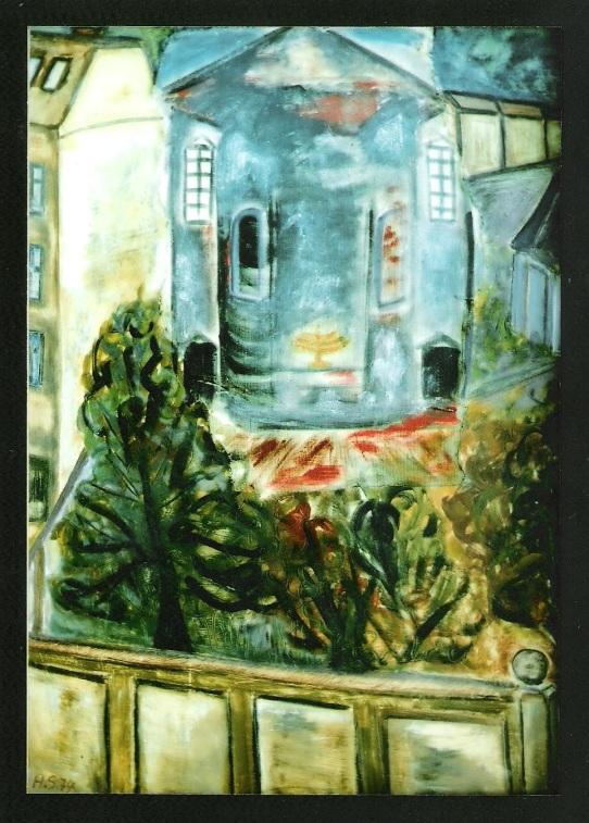 Im Krieg zerstörte Synagoge