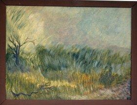 Landschaft mit Gräsern