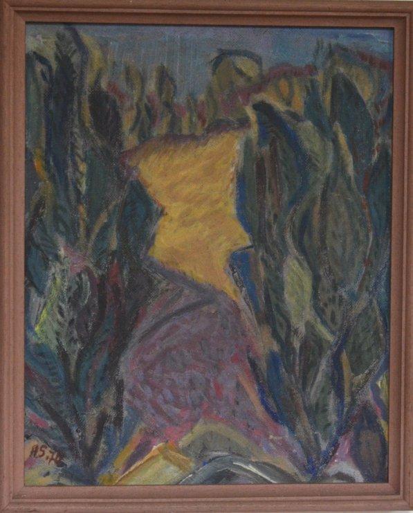 Landschaft mit Wacholder