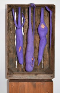 Stephanie Hantzko Metamorphose 2015 55x36x25cm Handgefilzt